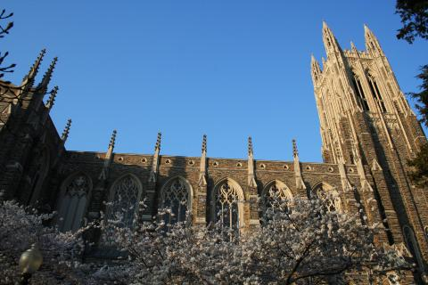 Side view of Duke Chapel