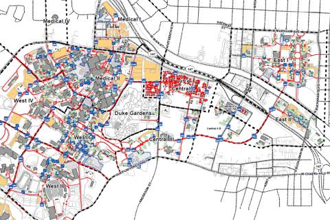 Duke University Snow/Ice Priority Map FY 18/19