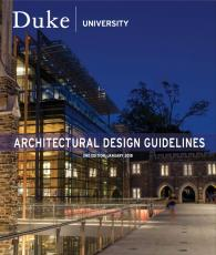 cover of the Architectural Design Guidelines document